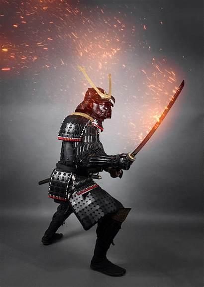 Animated Photoshop Effects Action Samurai Fire Bundle