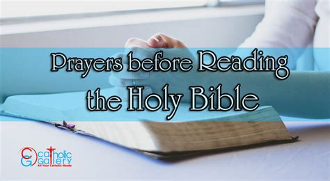 Prayers Before Reading The Holy Bible