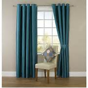 Eyelet Bedroom Curtains Wilko Faux Silk Eyelet Curtains Dark Teal 167 X 183cm At