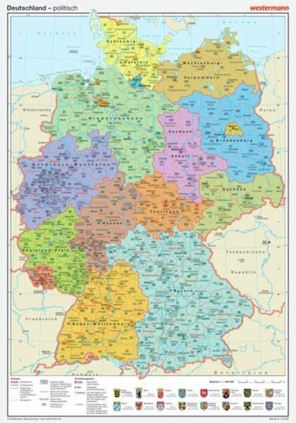 westermann deutschland politisch posterkarte
