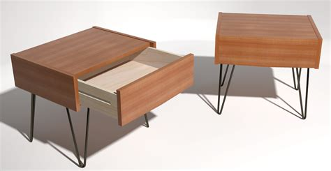 hair pin legs mid century modern bedside tables gallery sketchup