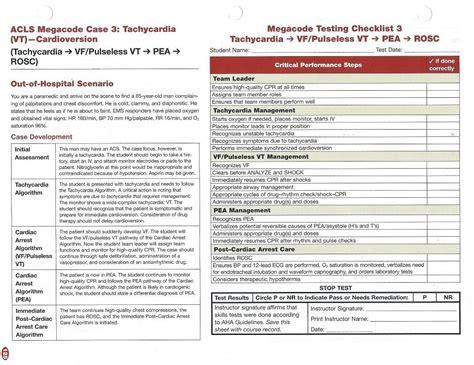 Acls Megacode Case 3 Tachycardia Vt Cardioversion 3