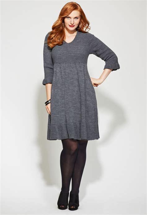 How to Wear A Plus Size Sweater Dress u2013 careyfashion.com