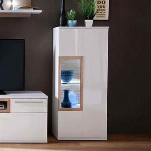 Wandregal Weiß 60 Cm Breit : wohnzimmervitrine in wei hochglanz eiche 60 cm breit online kaufen ~ Bigdaddyawards.com Haus und Dekorationen