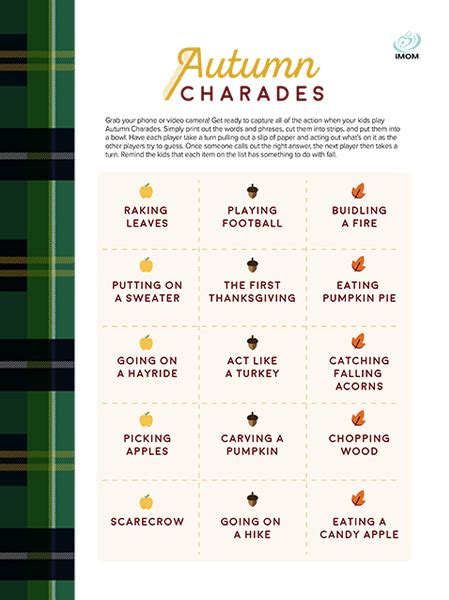 autumn charades game imom