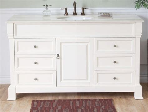 Bathroom Vanities Single Sink by 60 Inch Single Sink Bathroom Vanity In White