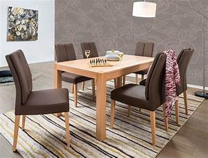 Esstisch 6 Stühle : tischgruppe esstisch karabo kernbuche 6 st hle flavia 2 sky espresso wohnbereiche esszimmer ~ Eleganceandgraceweddings.com Haus und Dekorationen