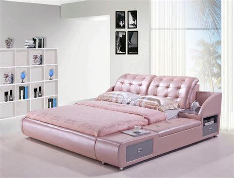 modern bedroom leather bed  lizz bed hot sale bedroom furniture king size leather soft