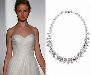 bridal jewelry tips bridal necklace dos don39ts thomas With wedding dress necklace