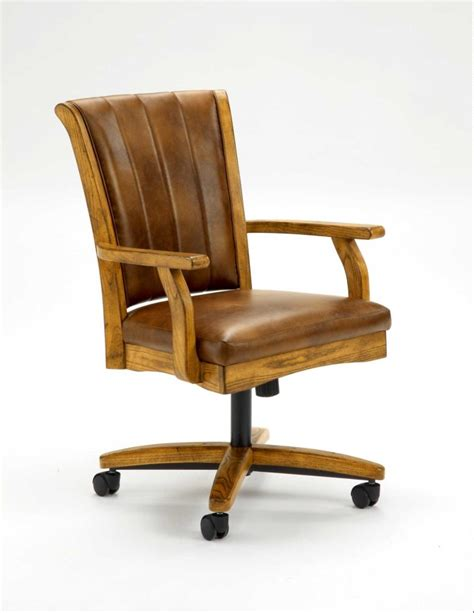 black leather chair with back also black wooden arm rest