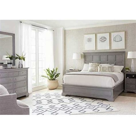 transitional panel bed queen king