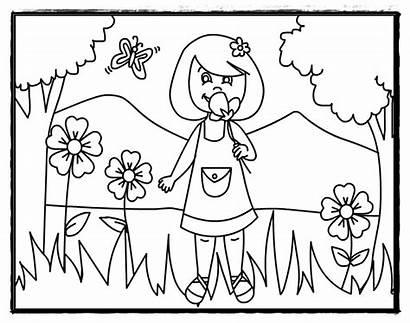 Coloring Summer Flowers Preschool Pages Printable Flower