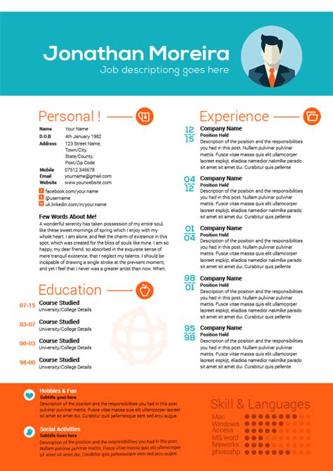 Creative Professional Resume Templates by Check Out This Of Creative Professional Curriculum
