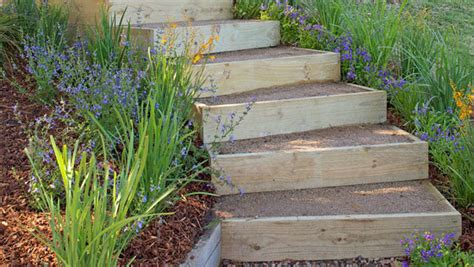 How To Build A Backyard Garden by Backyard Diy How To Build Outdoor Stairs Better Homes