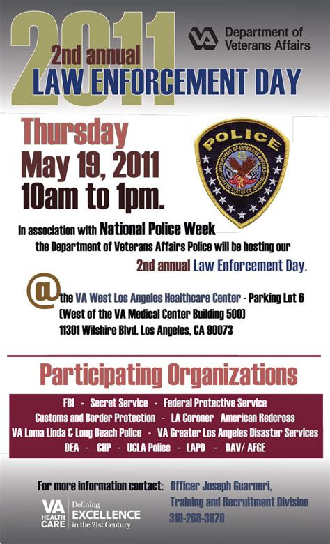 annual law enforcement day va greater los angeles healthcare