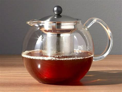 tea kettle bodum kettles glass assam press crateandbarrel