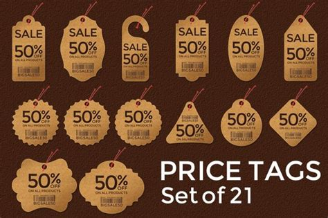 price tags set   web elements creative market