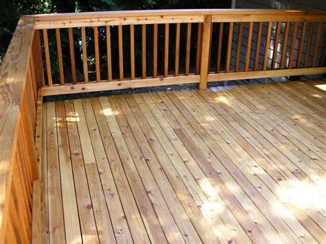 2x6 decking vs 54 5 4 quot x4 quot select tight knot cedar decking