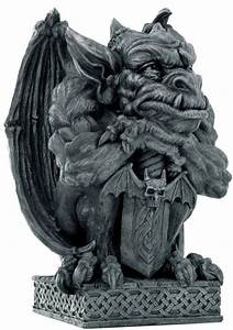 Gothic Gargoyle with Sword Statue