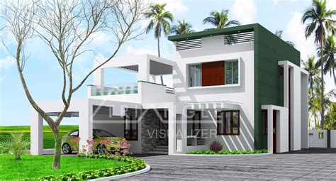 modern contemporary kerala house elevation   sqft