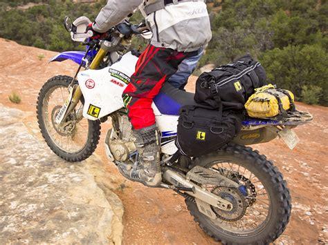 wolfman enduro rolie saddlebags luggage dry soft bags saddle bag trail ultralite rear dual sport adv test rack kit enlarge