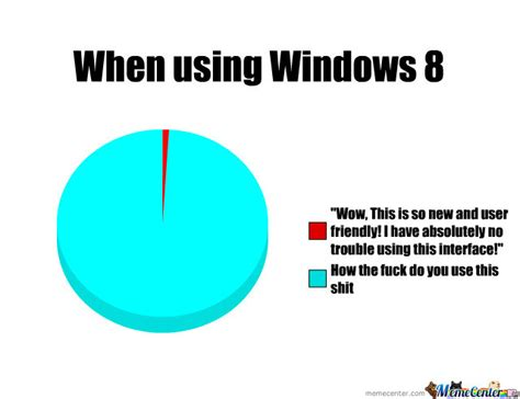 Windows Meme - when using windows 8 by patrickderpsonline meme center