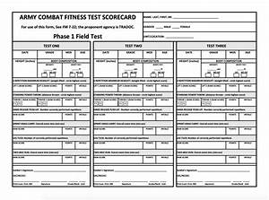 Army Pt Chart Acft Scorecard Fillable Pdf Us Army New Army Pt Test