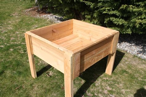 raised elevated cedar garden bed box 3x6x12 quot made in
