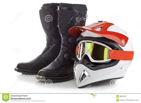 Motocross Protection Equipment Royalty Free Stock