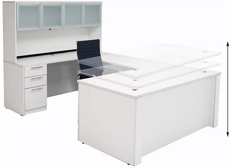 u shaped home office desk adjustable height u shaped executive office desk w hutch