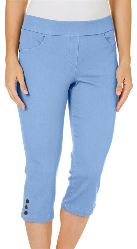 Pull On Stretch Capris - Breeze Clothing