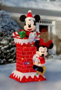 new huge 48 quot tall prelit mickey minnie mouse christmas outdoor decoration lights disney