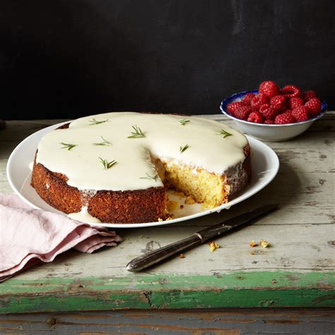 creme fraiche cuisine almond cake with lemon and crème fraîche glaze recipe
