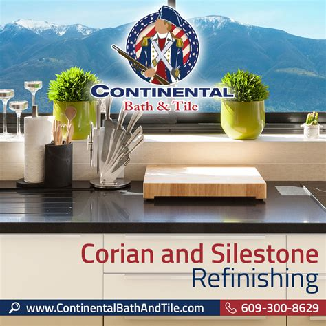 continental bath tile llc corian and silestone
