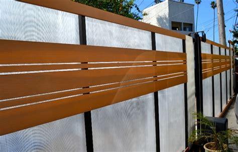 plexiglass driveway gate horizontal clear redwood