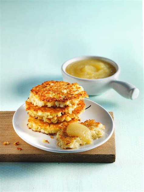 Tortitas De Patata Con Compota De Manzana