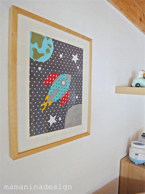 Kinderzimmer Deko Rakete by Stoffbild Quot Rakete Quot Mamaninadesign Bilder Kinderzimmer
