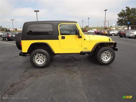 yellow jeep wrangler unlimited solar yellow 2004 jeep wrangler unlimited 4x4 exterior