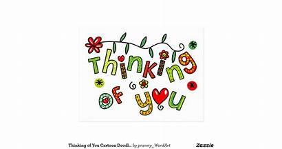 Thinking Cartoon Postcard Text Doodle