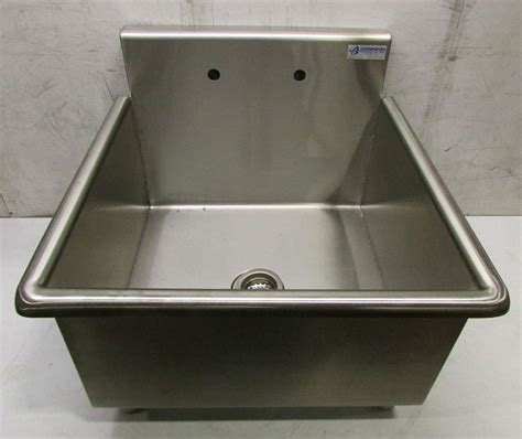 stainless steel utility sinks free standing griffin single bowl stainless steel free standing utility