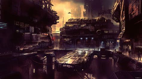 science fiction future city  hd artist  wallpapers