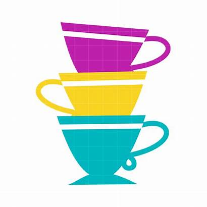 Tea Cup Cups Clipart Clip Teacup Stacked