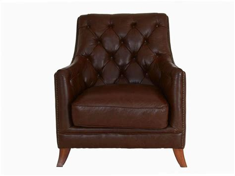 finley leather button back chair longlands