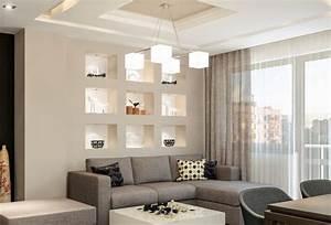 Beleuchtung Im Wohnzimmer : beleuchtete wandnischen mit kunstobjekten im wohnzimmer wohnen wohnzimmer nische und ~ Bigdaddyawards.com Haus und Dekorationen