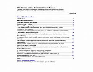 2004 Element Manuals