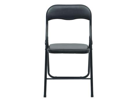 Chaise pliante BREVA coloris noir - Vente de Table et chaises de jardin - Conforama