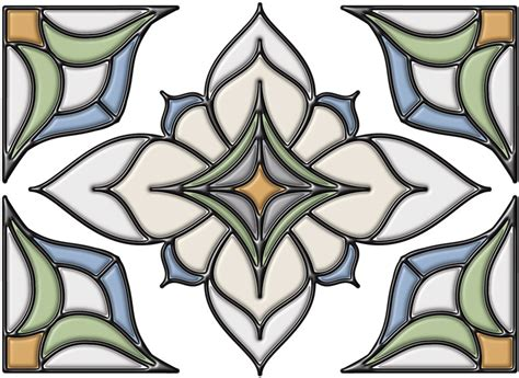 Glass Applique by Brewster Stain Glass Applique With Caming Lines The Home