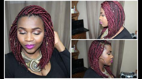 diy sexy red bob box braid dantemmy youtube
