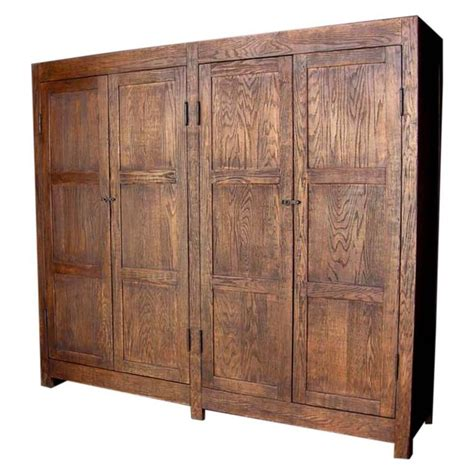custom large oak wood cabinet or wardrobe for sale at 1stdibs