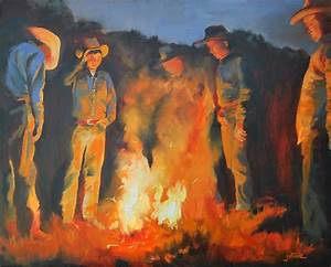 Campfire Confessions Painting by Dex Stone